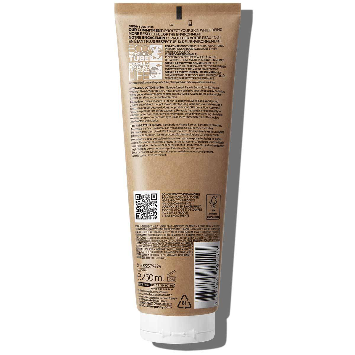 Anthelios Hydrating Lotion Eco Conscious Back