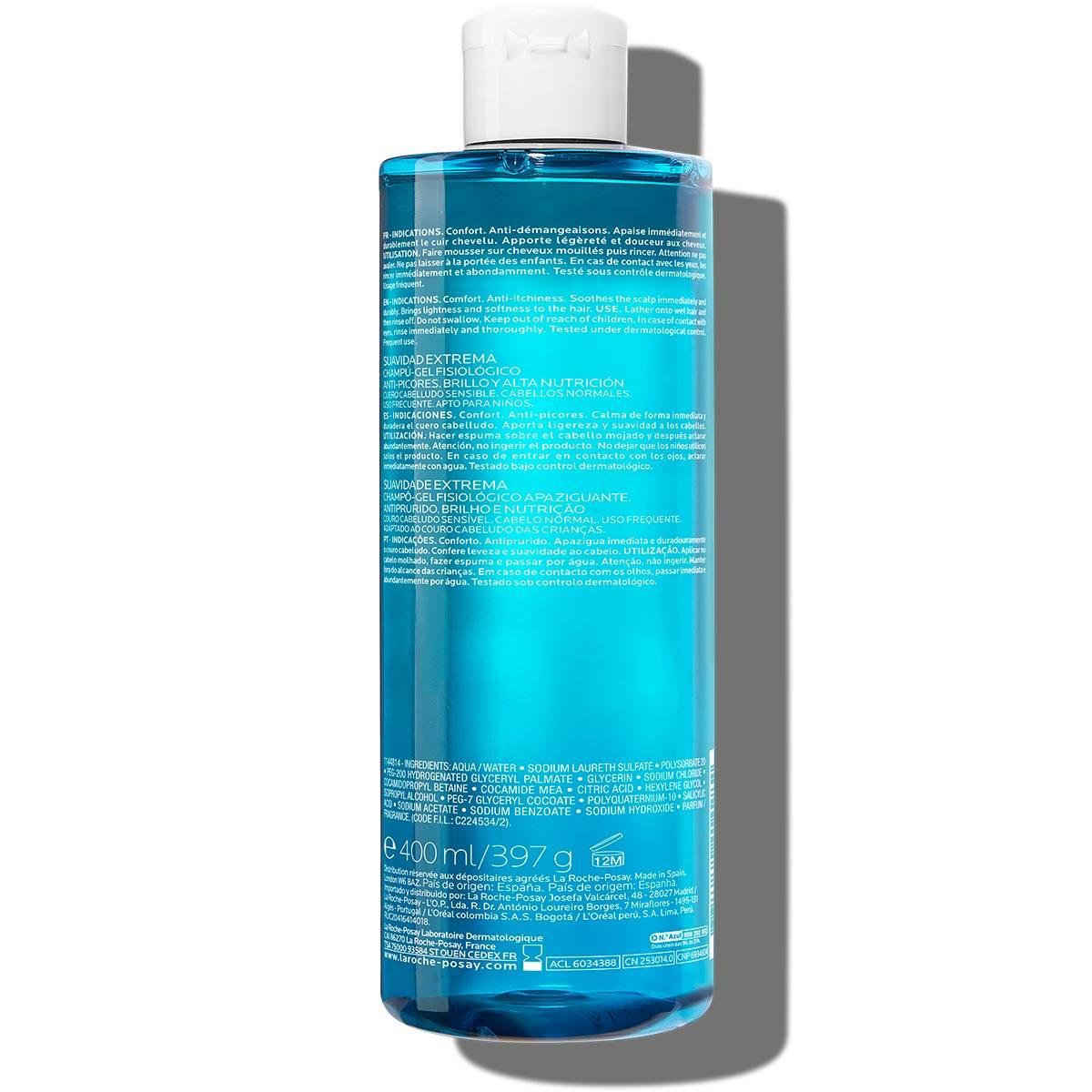 La Roche Posay ProductPage Kerium Extra Gentle Gel Shampoo 400ml 33378