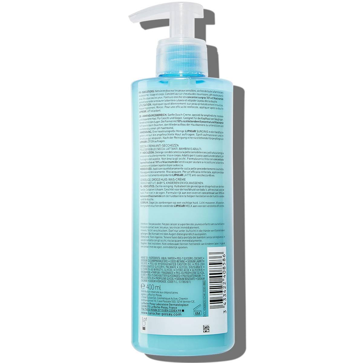 La Roche Posay ProductPage Eczema Lipikar Surgras 400ml 3433422408586